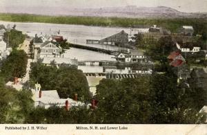 NH - Milton. Village and Lower Lake
