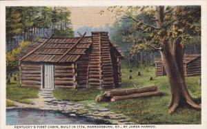 Kentucky Harrodsburg Kentuckys First Cabin Built In 1774 By James Harrod