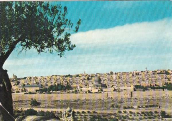Jordan Panorama Of Jerusalem 1960