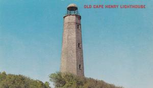 Old Cape Henry Lighthouse, Built in 1791, First Government Lighthouse in Amer...