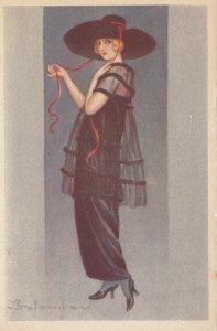 Art Deco ; COLOMBO , Female Fashion Portrait #3, 1910-30s