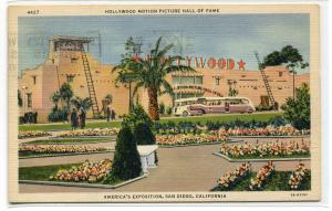 Hollywood Motion Picture Hall of Fame Exposition San Diego California postcard