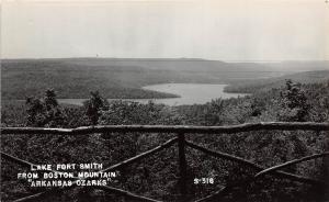 Arkansas AR Real Photo RPPC Postcard c50s LAKE FORT SMITH Boston Mountain OZARKS