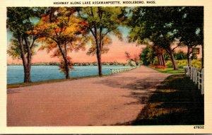 Massachusetts Middleboro Highway Along Lake Assawampsette