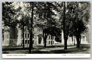 Lincoln College IL~Plenty of Shade Trees on Campus~Stone Foundation~CU Williams