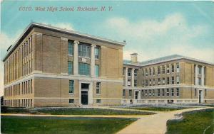 Rochester New York~West High School~Stone Benches~Now Wilson Magnet~1907 PC