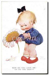 Old Postcard Fantasy Illustrator Child Mabel Lucie Attwell Flower