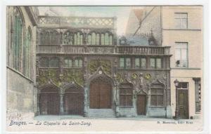 La Chapelle du Saint Sang Bruges Belgium 1905c postcard