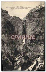 Old Postcard The Valley of The Alps & # 39Ubaye Pont du Castelet