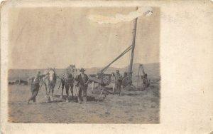 F82/ Occupational RPPC Postcard c1910 Oil Well Derrick Workers 13