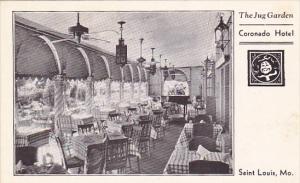 Missouri St Louis The Jug Garden Restaurant Coronado Hotel
