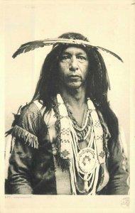 Arrowmaker Native American Indian C-1908 RPPC Photo Postcard 20-1108