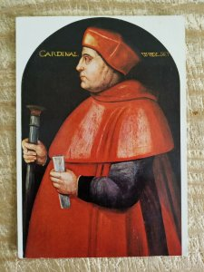 CARDINAL WOOLSEY BY UNKNOWN ARTIST.VTG USED ART POSTCARD*P12