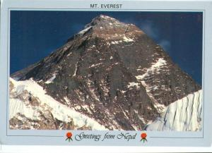 Greetings from Nepal, Mt. Everest, 1980s unused Postcard