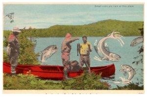 Onatario, Greetings from Burks Falls, Giant fish jumping