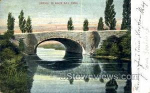 Bridge & Lake, Public Garden Back Bay Fens MA 1906