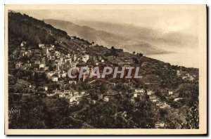 Postcard Old Village Roquebrune The view of the Grande Corniche