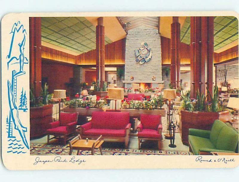 Unused Pre-1980 MID CENTURY MODERN AT JASPER PARK LODGE Jasper ALBERTA J7142