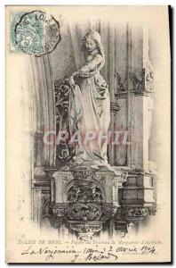 Old Postcard Brou Church Figure tomb Marguerite d & # 39Autriche