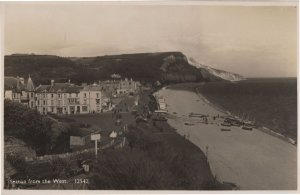 Seaton From The West WW2 Real Photo War Postcard