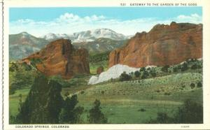 Gateway to the Garden of the Gods, Colorado Springs early...