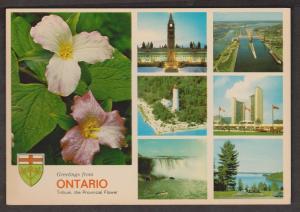6 Views Of Ontario + Trillium Provincial Flower - Unused # 2