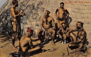 South Africa Natal Native Chief and his Indunas
