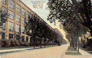 Dayton Ohio Stewart Street Antique Postcard J52349