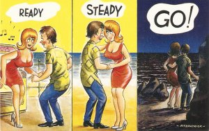 Fitzpatrick. Ready, Steady, G0. Bamforth Seaside Comic Ser. PC # 2306