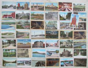 HARRISBURG PA LOT OF 43 ANTIQUE POSTCARDS