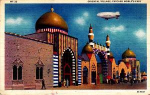 Chicago World's Fair - Oriental Village w/ Blimp