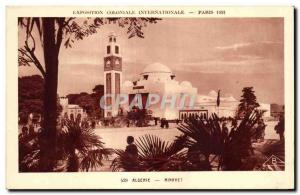 Old Postcard Exposition Coloniale Internationale Paris 1931 Algeria Minaret