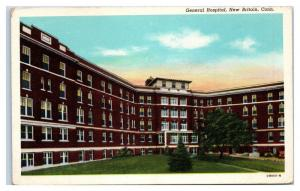 Mid-1900s General Hospital, New Britain, CT Postcard