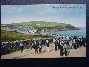Isle of Man ONCHAN HEAD & HARBOUR c1913 Postcard by Valentine 76521