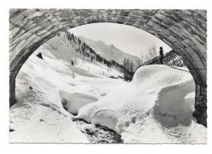 France RPPC Chamonix View of Mont Blanc Alps Haute Savoie Vintage Postcard 4X6