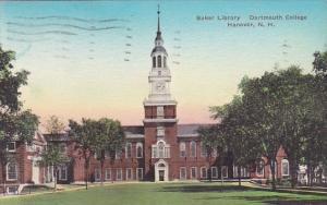 New Hampshire Hanover Baker Library Dartmouth College 1942 Handcolored Albertype