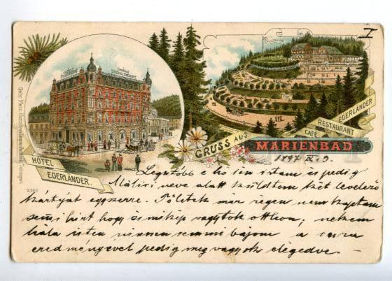 152038 Czech Republic Marianske Lazne GRUSS aus MARIENBAD Cafe