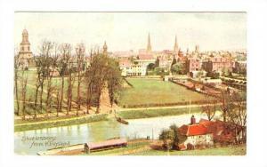 Aerial View, Shrewsbury from Kingsland, Shropshire, England, United Kingdom, ...