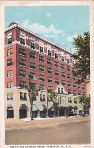 FAYETTEVILLE, North Carolina, 1910-1920s; The Prince Charles Hotel