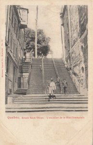 QUEBEC CITY , Quebec , 1901-07; Break Neck Steps