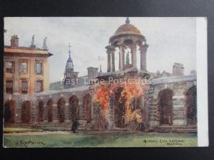 Oxford: Queens College Gateway c1920 - Old Postcard