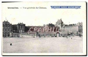 Postcard Old Versailles Vue Generale Du Chateau Paris Boutron Chocolate Adver...