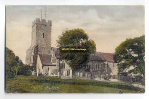 cu0177 - Cheiton Parish Church , Kent - postcard
