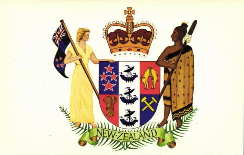 new zealand, Coat of Arms, National Flag, Patriotism (1950s)