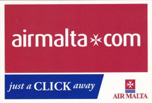 AIR MALTA , airmalta.com Just a click away , 1990s