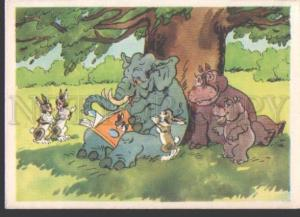 114183 ELEPHANT HARES HIPPOPOTAMUS Old Funny Russian PC