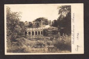 MA Muttook Bridge Hill MIDDLEBORO MASS Real Photo RPPC Massachusetts Postcard