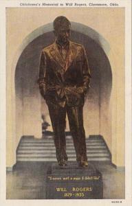 Oklahoma Claremore Will Rogers Memorial Curteich