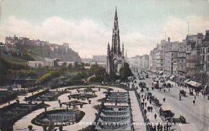 Princess Street And Scott Monument, Edinburgh, Scotland, UK, 1900-1910s