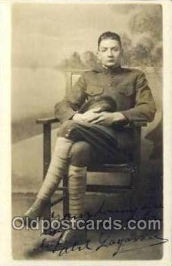 Abil Layossie WWI Real Photo Military Soldier in Uniform Post Card Postcard  ...